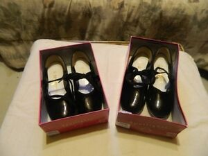 2 Pairs Little Girls Dance & Tap Shoes (size 12 & 12.5)