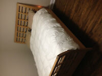 Queen Sleigh Bed frame, dresser with mirror and side table