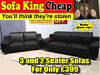 -100% LEATHER – BELLINI 3 + 2 SOFA SET – SOFA KING QUICK DELIVERY – MASSIVE REDUCTION - NOW ONLY £39 Glasgow,Paisely, Ayrshire