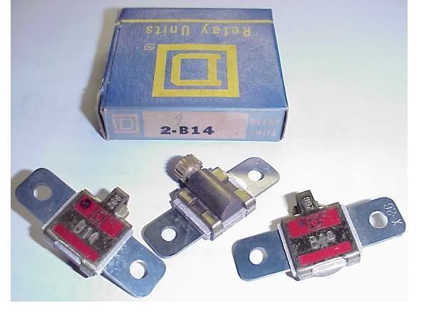 2 NEW SQUARE D B19.5  MOTOR STARTER OVERLOAD HEATERS