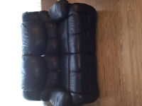 PALLISER RECLINING LEATHER LOVE SEAT FOR SALE