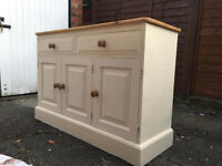Upcycled shabby chic 3 door sideboard