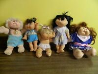 5 Cabbage Patch Dolls all in excellent condition