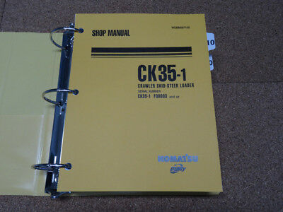 Komatsu Ck35 1 Crawler Skid Steer Loader Service Shop Repair Manual