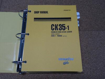 Komatsu Ck35 1 Crawler Skid Steer Loader Service Shop Repair Manual