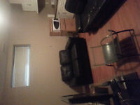 Furnished spacious one bedroom basement suite