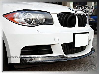 V Style Carbon Fiber Front Bumper Add-On Lip for BMW E82 E88 M-Tech 135i (Bmw 135i Coupe)