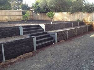 """Concrete Sleepers & Retaining Wall Galvanised """"H"""" & """"C"""" Posts Stapylton Gold Coast North Preview"""