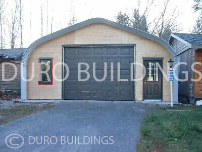 Durospan Steel 30x34x15 Metal Building Diy Home Shop Garage Kit Open Ends Direct