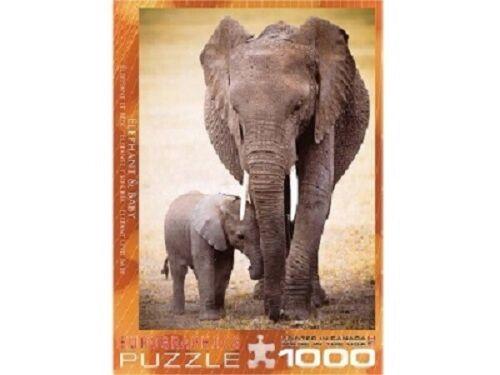 Eurographics 1000 Piece Jigsaw Puzzle - Elephant & Baby