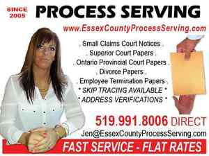 Process Serve Small Claims Court & Family Court Documents Windsor Region Ontario image 1