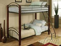 Bunk Bed, Wooden Post Metal Frame, $150 OBO