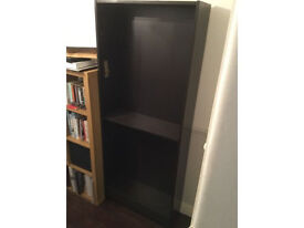 Ikea shelves for sale with extra shelves, black so more can be added, with spare shelves