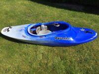 Pyranha Recoil Kayak Small White Water River Running Playboat Canoe