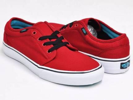 Vans 106 Vulcanized Shoe - Chilli Pepper Red/Black - Mens US 12 Hamilton Newcastle Area Preview