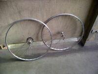 mavic 6 speed wheelset,single speed set and odd 700cc wheels