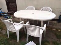 Garden table with chairs / FREE DELIVERY