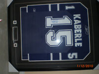 SIGNED and FRAMED Maple Leafs Jersey!!