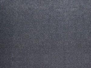 VORWERK Teppichboden Bingo 9C97 Auslegware Anthrazit Schwarz Velours Teppich 4m