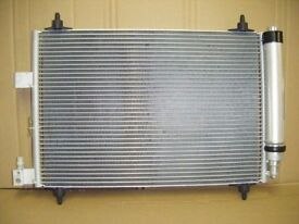 Peugeot 407, Citroen C5 C6 Air Conditioning Condenser and Dryer, Brand new and boxed.
