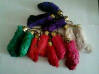 Authentic lucky Rabbit foot keyrings