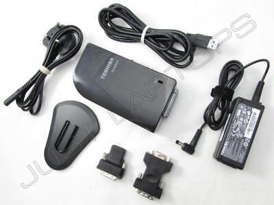 Toshiba Universal USB 3.0 Docking Station w/ DVI VGA HDMI Video + AC Adapter