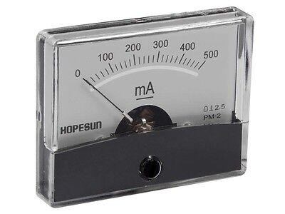 Velleman Aim60500 Analog Current Panel Meter 500ma Dc 2.4 X 1.9
