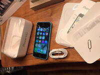 Apple iPhone 5c 16gb in blue, boxed. on Vodafone in
