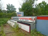 """Used Lighted sign box with old dashwood face 24-1/2"""" X 23'"""