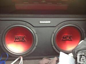 Trade 2 thouder sub with amp build in box.