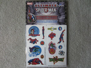 BRAND NEW - SPIDERMAN REUSABLE TATTOOS
