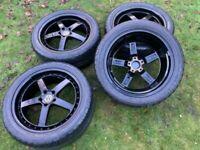 "20"" VW Transporter T6 T5 Alloy Wheels Tyres Bbs Style"