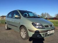RENAULT MEGANE SCENIC IMMACULATE CAR JULY MOT NO ADVISORIES FULL HISTORY PEOPLE CARRIER MPV