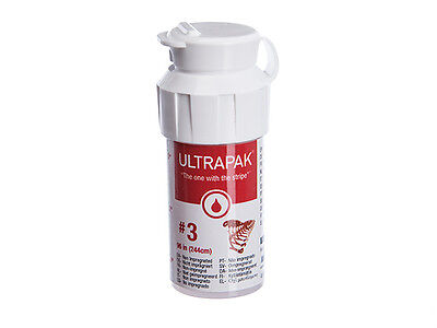 Ultrapak Dental Gingival Retraction Knitted Cord Size 3 Ultradent 134