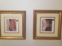 Tom Thomson group of Seven Prints numbered framed w dble mat