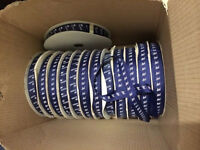 Navy polyester ribbons/gift wrapping/crafting/sewing, 100yrd reel