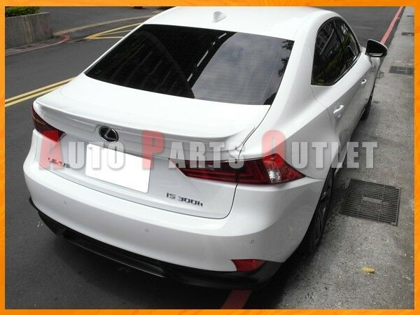 2014-2015 LEXUS IS250 IS350 Sedan TRD Look Trunk Boot Spoiler - #083 White Nova