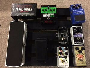 Pedals/pedal train/pedal power. EHX. Voodoo labs. Boss and more
