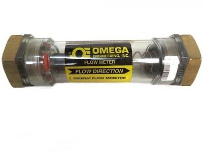 Omega Engineering Fl-510 In-line Flow Meter 200 Psi Liquid 100 Psi Air 1 Port