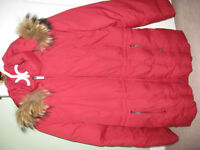 Women's Red Parka Size M (10-12)