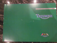 TRIUMPH 2002 CLASSIC MOTORCYCLE BROCHURE CATALOG