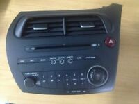 GENUINE HONDA CIVIC RADIO CD PLAYER 2005-2011 SAT NAV AND NON SATNAV TYPES AVAILABLE