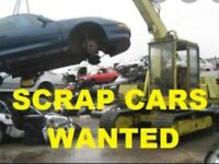 Scrap cars wanted cash payments today