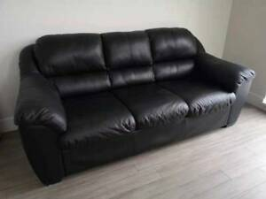 Like New Real Leather Sofa + Love Seat SET - $999 (SOUTH SURREY)