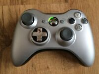 MATTE SILVER SPECIAL EDITION XBOX360 OFFICIAL CONTROLLER PAD