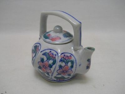 Small Vintage Ceramic Glass Tea Pot