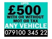 07910034522 WANTED CAR VAN FOR CASH BUY YOUR SCRAP SELL MY SCRAPPING G