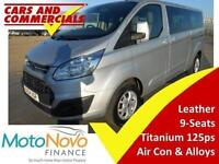 2014 64 FORD TOURNEO CUSTOM 300 L2 LWB TITANIUM 125PS 9-SEATS LEATHER DIESEL