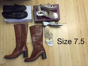 4 pairs size 7.5 women's shoes
