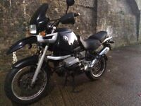 1998 BMW Adventure R 1100 GS motorcycle with 1 years MOT. Looks and runs great.